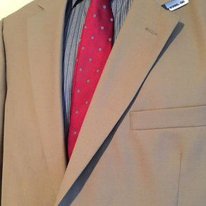 Jos. A Bank Sports Coat Blazer Tan NWT 44L